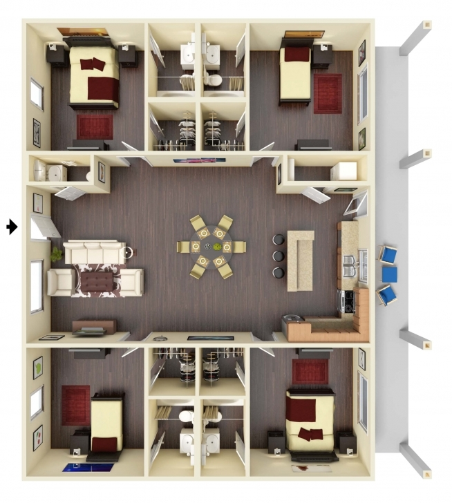 Picture of Bedroom: 6 Bedroom Floor Plans House Plans For 6 Bedroom Flat Image