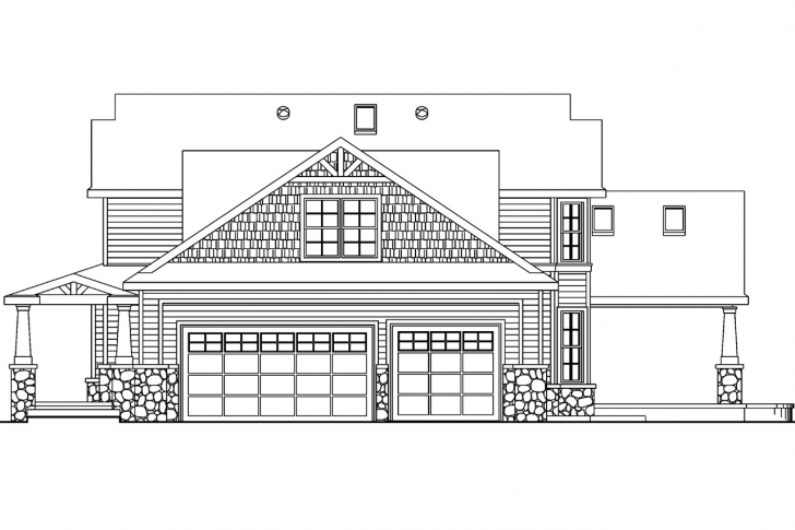 Picture of Craftsman House Plans - Tillamook 30-519 - Associated Designs House Planning With Elevation Image