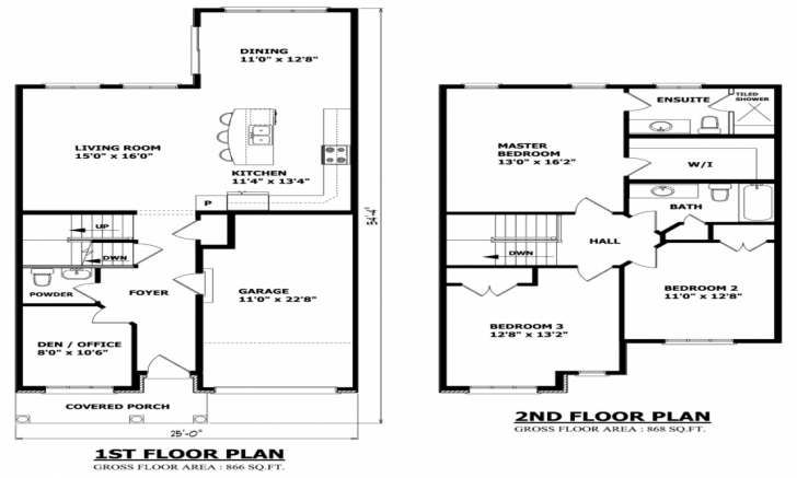 Picture of Home Architecture: Simple Story Small House Floor Plans Two Single Single Story Tiny House Floor Plans Pic