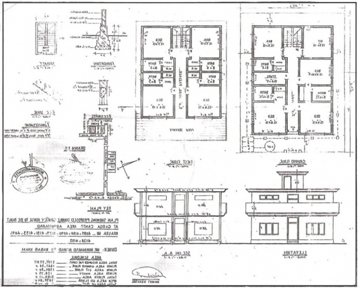 Picture of House Plan House Plan Building Drawing Plan Elevation Drawing House Residential Building Plan Section Elevation Image