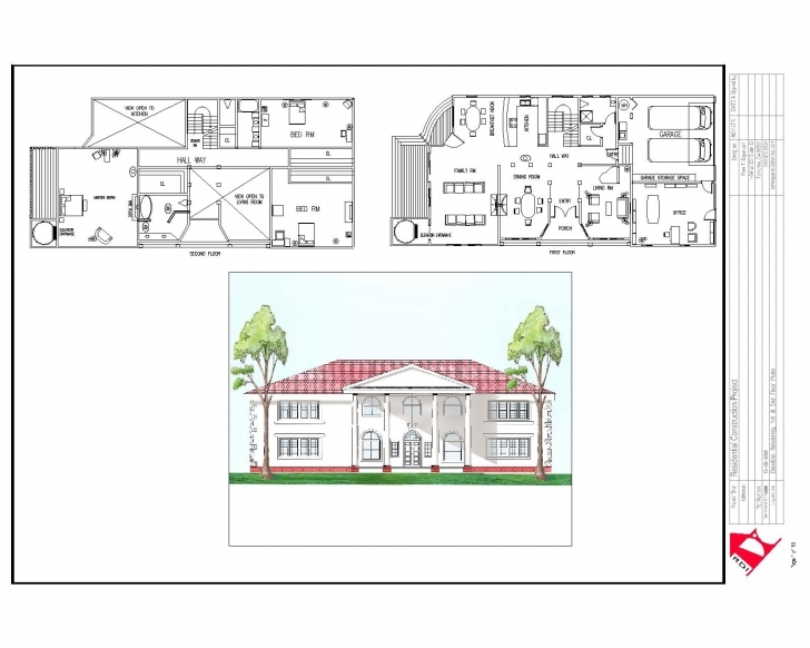 Picture of House Plan House Plan Plans Elevation Section Escortsea And Residential Building Plan Section Elevation Image