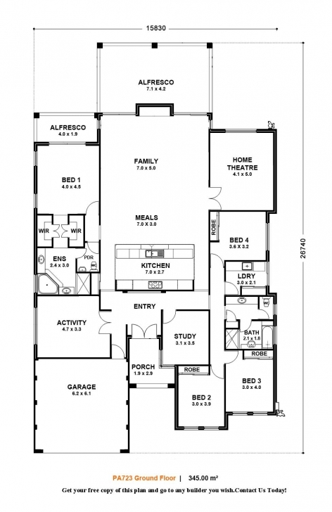 Picture of House Plan House Plan Single Storey 4 Bedroom Homes Zone Single Single Story House Floor Plans Australia Photo