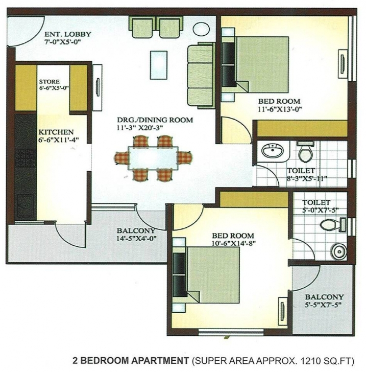 Picture of Impressive Apartment Floor Plan Design Or Simple Bedroom Flatlans Image Of 2 Bedroom Floor Plan In Nigeria Picture