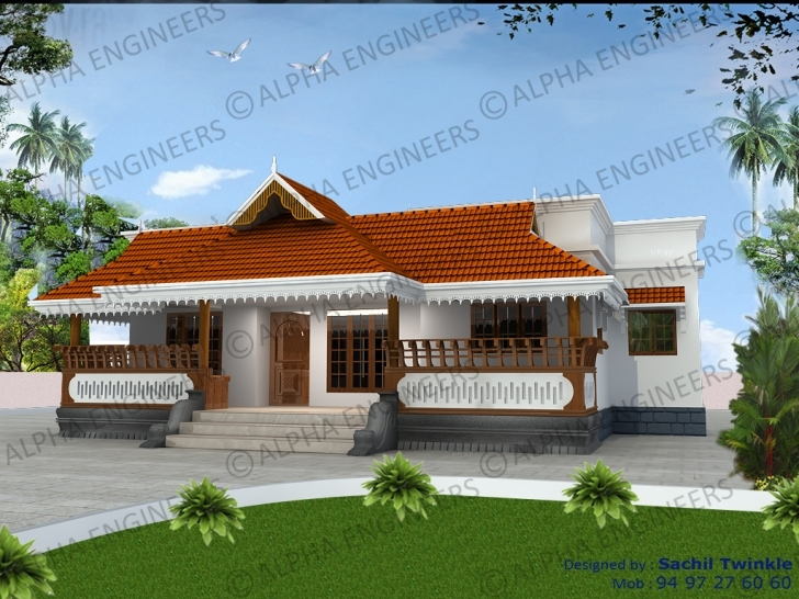Picture of Kerala Style Home Plans | Kerala Model Home Plans House Model Kerala Style Image
