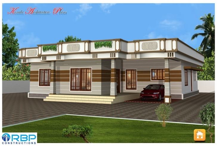 Picture of Kerala Style Single Storied House Plan And Its Elevation Kerala Style Single Floor Home Elevation Picture