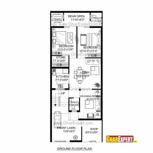 South Facing House Plans 20 X 60
