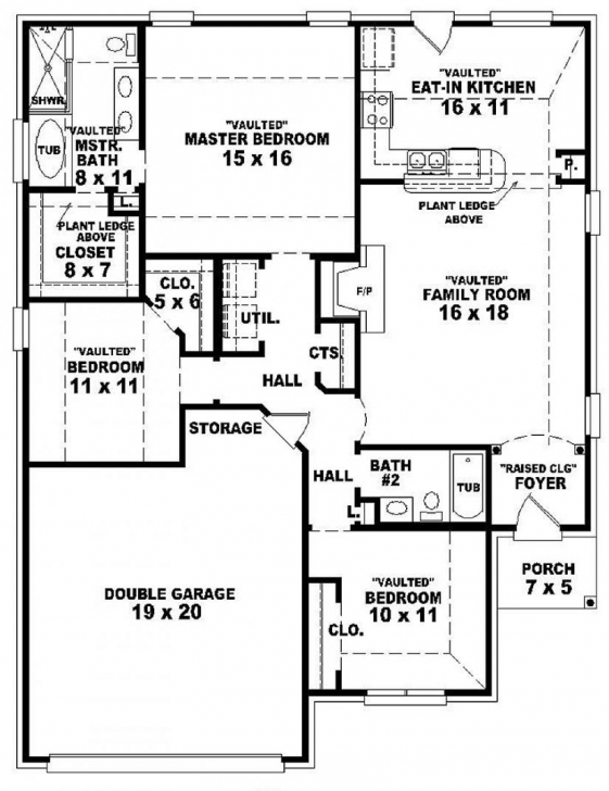 Picture of One Story Bedroom House Plans Cabin Inspirations Single Floor 3 3 Bedroom House Floor Plans Single Story Photo