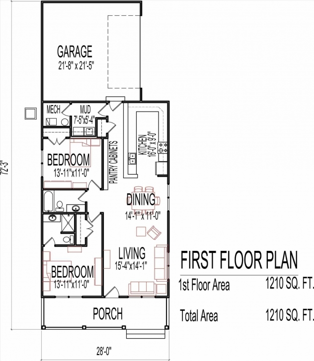 Picture of Single Story Tiny House Plans Interior One Floor Small Two Bedroom Single Story Tiny House Floor Plans Picture