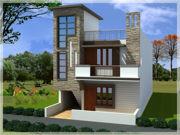 Picture of Small Duplex House Elevation Plans | Handgunsband Designs : Small Best Plan With Elevation For Small Area Pic