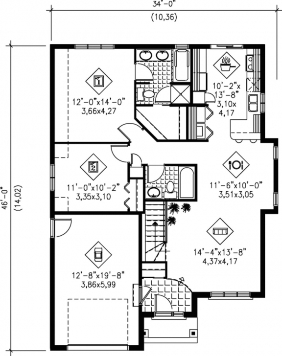 Popular 1100 Sf House Plans | Musicdna 1100 Squre Feet House Template Photo