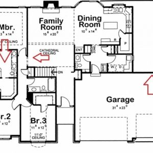 How To Draw A 3 Bedroom House Plan