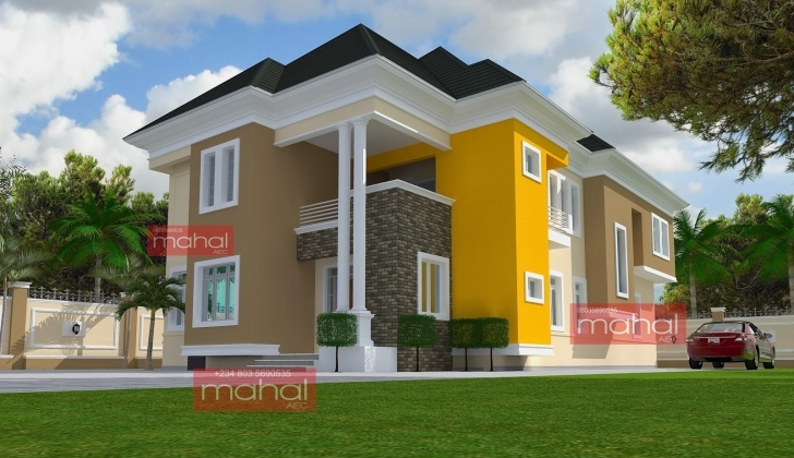 Popular Contemporary Nigerian Residential Architecture: 4 Bedroom Duplex Modern Nigerian 4Bedroom Duplex Pics Pic