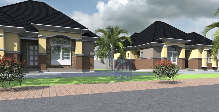 Popular Contemporary Nigerian Residential Architecture Luxury 3 Bedroom Nigerian Architectural 3Bedroom Floor Plan Image