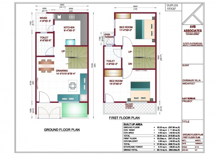 Popular Download 800 Sq Ft Duplex House Plan Home Design 15 X 60 – Home 15×60 House Plan Photo