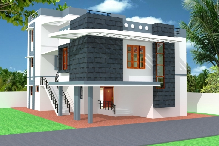 Popular Elevation Home - Nisartmacka Single Slab House Front Elivation Image
