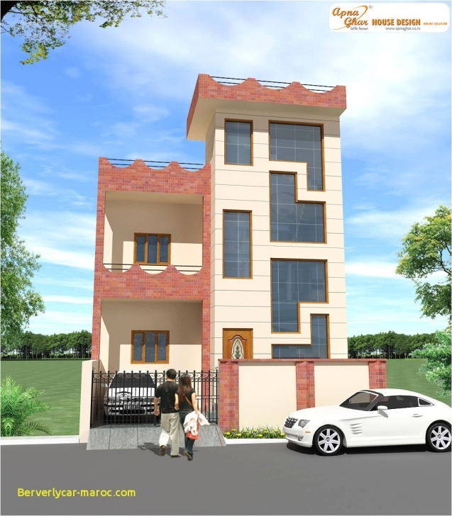 Popular Home Design 15 X 60 Elegant Duplex House Design Apnaghar House 15*60 Home Design Pic