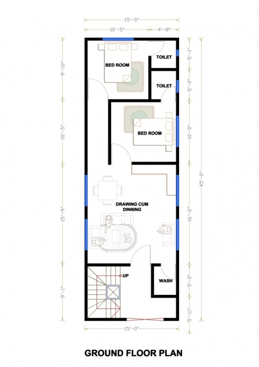 Popular House Plan 25 X 45 Awesome House Plan Awesome 25×50 House Plan 25×50 15 X 45 Duplex House Plan Image