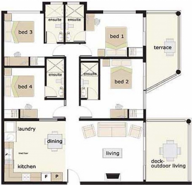 Popular House Plan 4 Bedroom House Designs 4 Bedroom Bungalow House Plans In 4 Bedroom Bungalow House Floor Plans In Nigeria Image