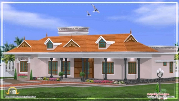 Popular Kerala Style Single Floor House Elevations - Youtube Kerala House Elevation Single Floor Image