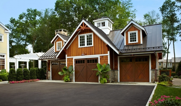 Popular Luxury Home Garage With Car Elevator In Connecticut | Idesignarch Houses With Garage Image