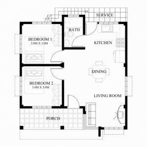 Modern 3 Bedroom Bungalow Floor Plans