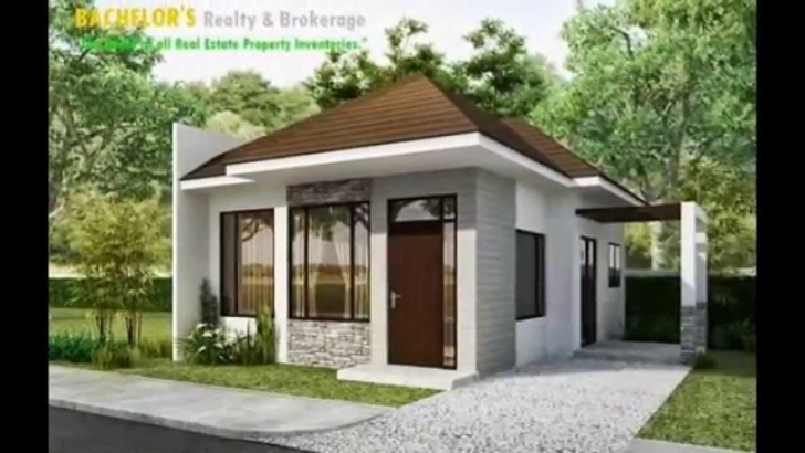 Popular One Story Exterior House Design Modern Luxury House Plans Home Decor Small Single Storey House With Garage Image