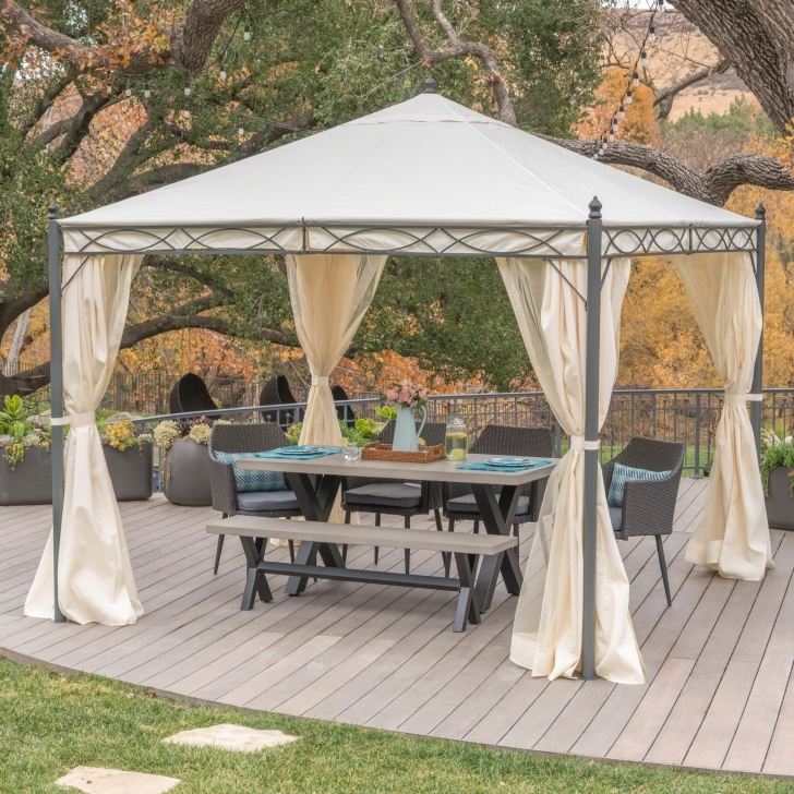 Popular Sicilia Outdoor Steel Gazebo By Christopher Knight Home - Free Steel Gazebo Against House Photo