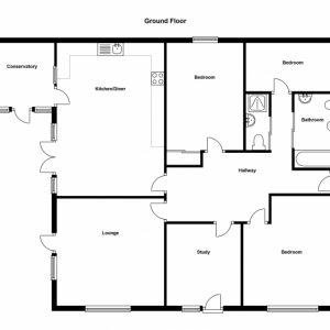 Ground Floor Plan Of Four Bedroom Flat