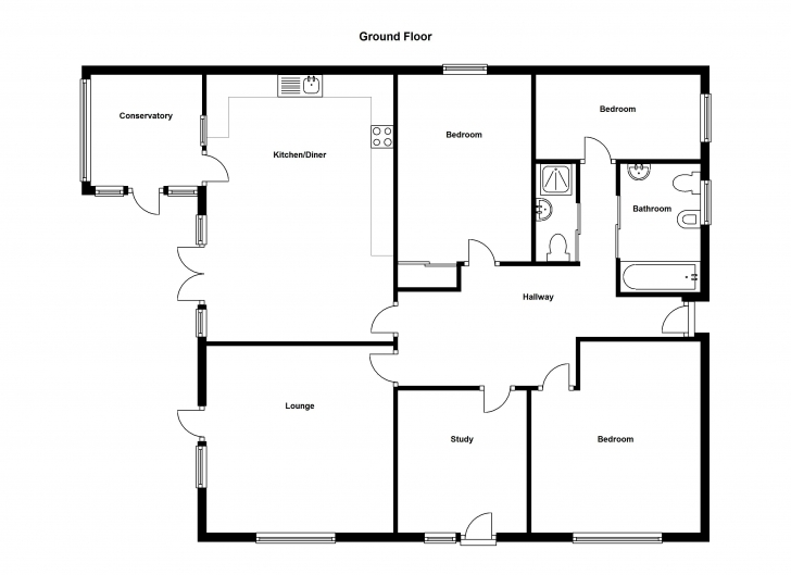 Popular Simple Four Bedroom Flat Bungalow Search Results Small Woodworking Ground Floor Plan Of Four Bedroom Flat Pic
