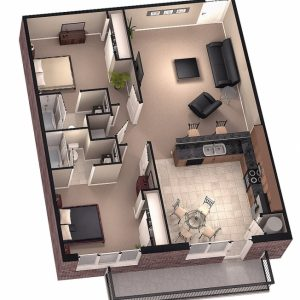 20*30 House Plan Images 3D