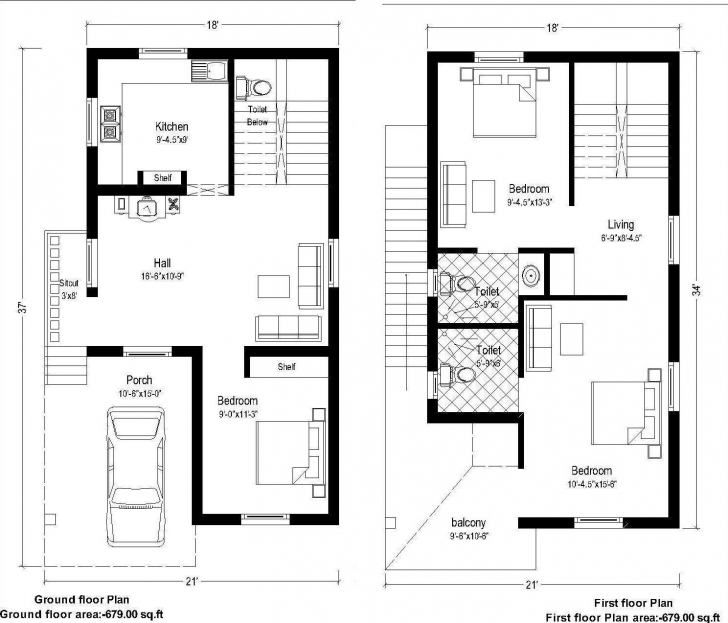 Remarkable 25 X 40 Floor Plans | Theworkbench Home Plan 15 By 40 Picture