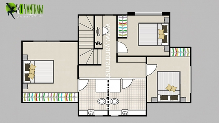 Remarkable 2D Floor Plan With Furuniture - Landscaping Desing By Yantram Studio 2D Plans Hd Pics Picture
