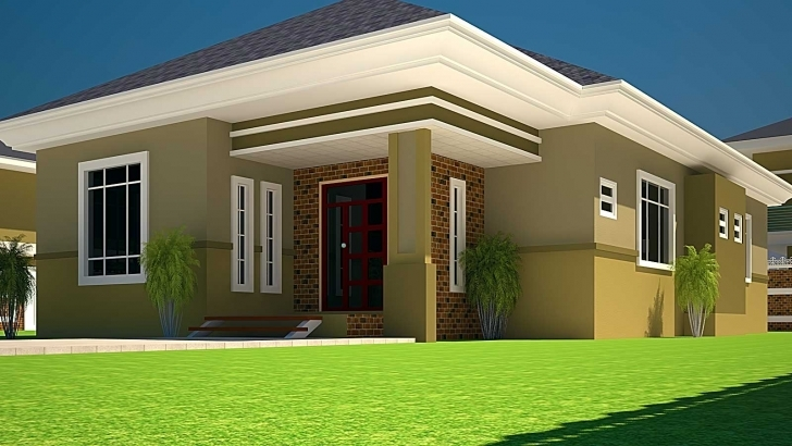 Remarkable 3 Bedroomed House Designs House Plans Ghana 3 Bedroom House Plan For Building Designs On Half Plot Of Land Image
