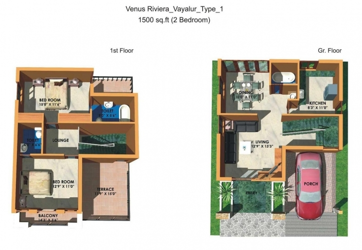Remarkable 600 Sq Ft Duplex House Plans Indian Style — House Style And Plans Indian House Plans For 1500 Square Feet Pic