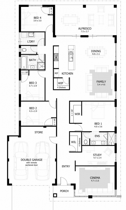Remarkable Four Bedroom House Floor Awesome Four Bedroom Floor Plans — Ppngo Four Bedroom Floor Plans Pic