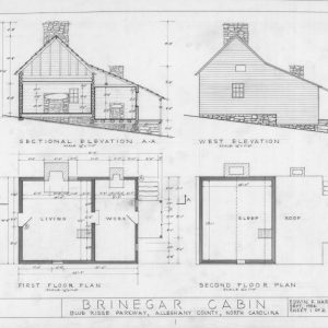 Simple Plan Section Elevation Drawings