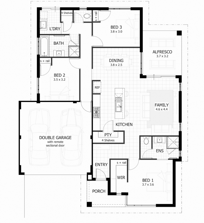 Remarkable Small 3 Bedroom House Plans Australia Beautiful Extraordinary Three 3 Bedroom House Plans With A Garage Photo