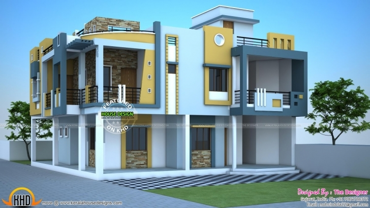 Remarkable Uncategorized : 3D Duplex House Plan India Marvelous With Fantastic Fantastic House Designs 3D Duplexes Image