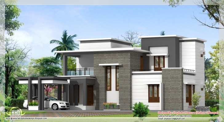 Splendid 2000 Sq Ft House Plans Kerala Style - Home Deco Plans 4 Bedroom Modern House Plans In Kerala Image