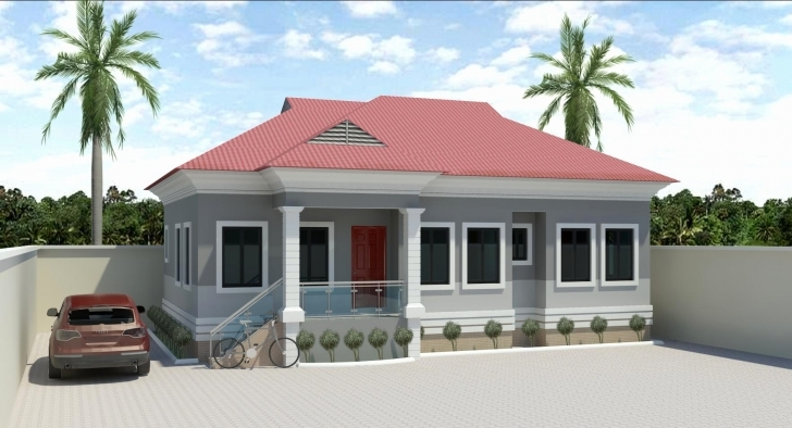 Splendid 3 Bedroom House Plan On Half Plot Unique 3 Bedroom House Plans Half Pictures Of Beautiful House Or Half A Plot In Nigeria Image