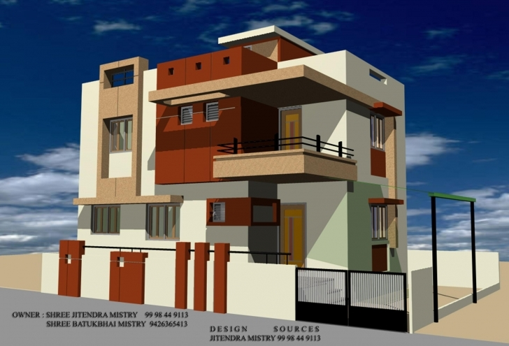 Splendid 3D Front Elevation Of House - Good Decorating Ideas Gharexpert Front Elevation Pic