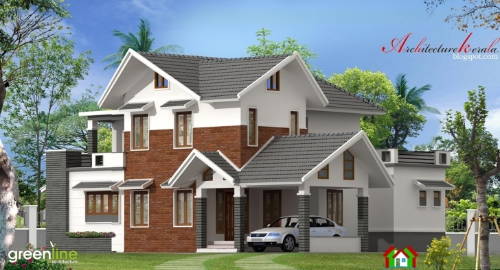 Splendid 4 Bhk Modern Style Kerala House Elevation - Architecture Kerala Kerala House Elevation Pictures Picture