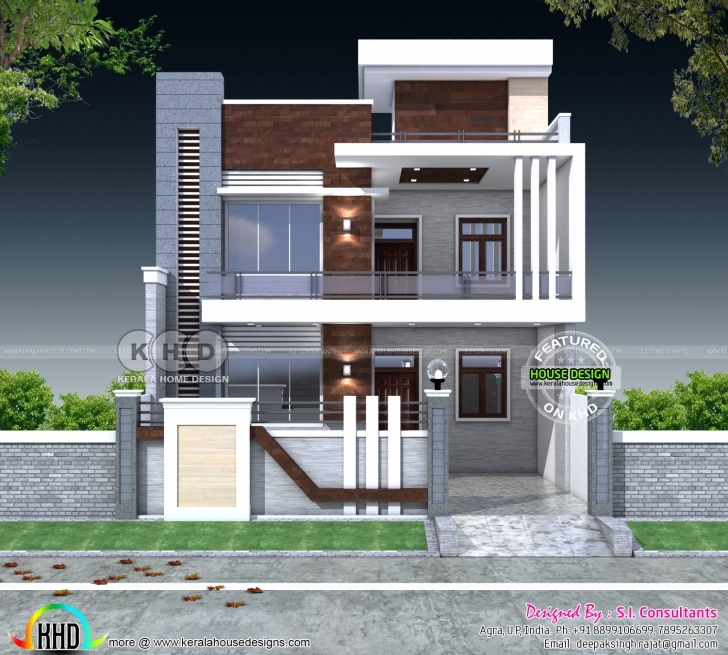 Splendid 5 Bedroom Flat Roof Contemporary India Home | Kerala Home Design Indian Home Design Photo