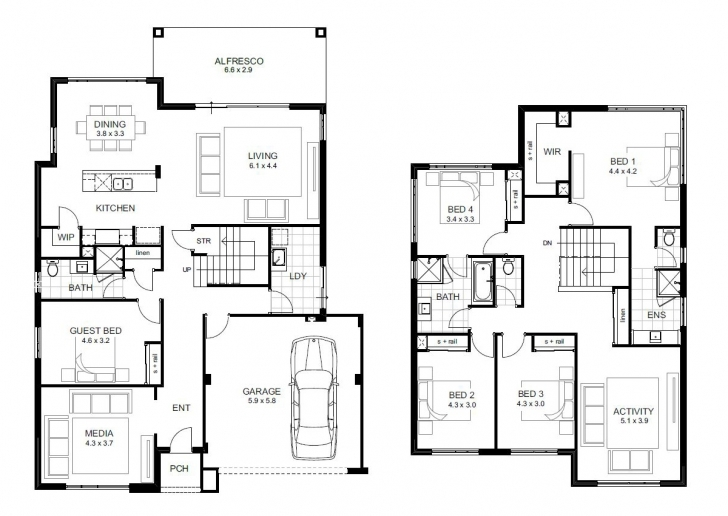 Splendid 5 Bedroom House Designs Perth | Double Storey | Apg Homes 5 Bedroom Buildings Photo
