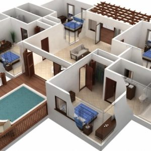 Autocad House Drawing 2D