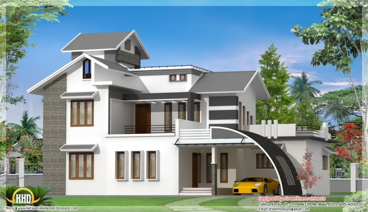 Splendid Best Design: Contemporary Indian House Design - 2700 Sq.ft. Best Indian House Pic Photo