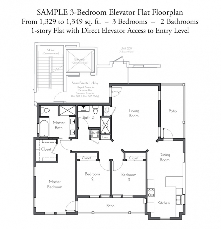 Splendid Evanston Court | Standard Property Tax Rate Standard 3 Bedroom Flat Plan Picture