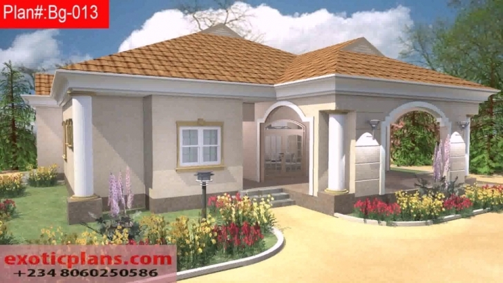 Splendid Free 4 Bedroom Bungalow House Plans In Nigeria - Youtube Four Bedroom Bungalow Design In Nigeria Picture