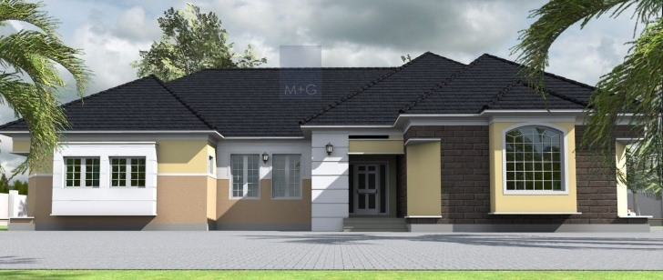 Splendid Home Architecture: Contemporary Nigerian Residential Architecture Four Bedroom Bungalow Image