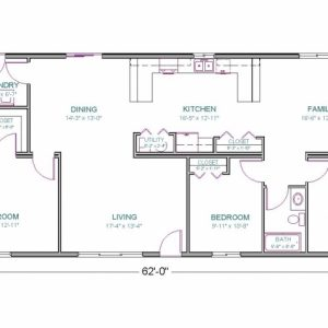 House Plan Drawing 1700 Sq Ft